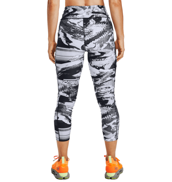 CALZA DE MUJER UNDER ARMOUR ARMR PRINT ANKLE CROP BLANCO/NEGRO