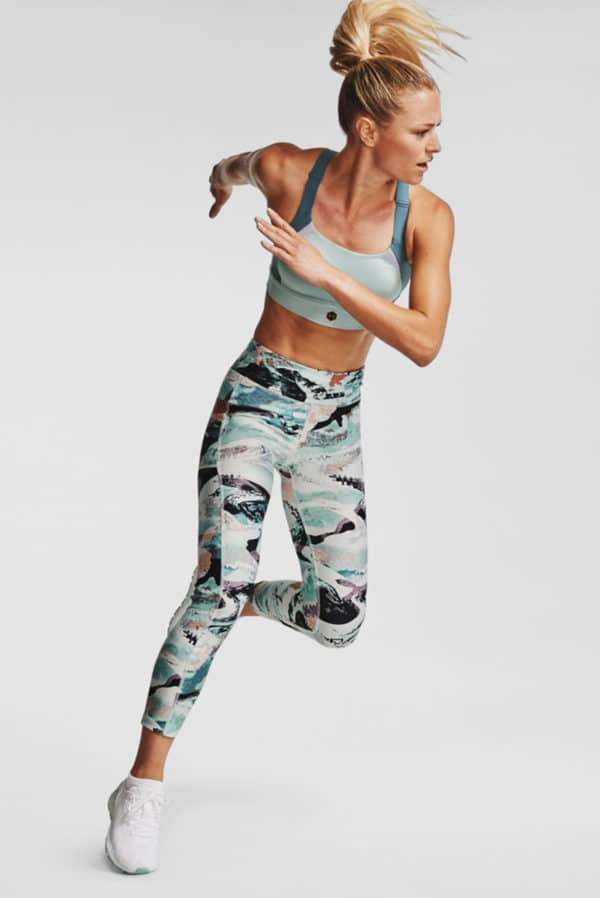 CALZA DE MUJER UNDER ARMOUR HG ARMR PRINT ANKLE CROP MULTICOLOR