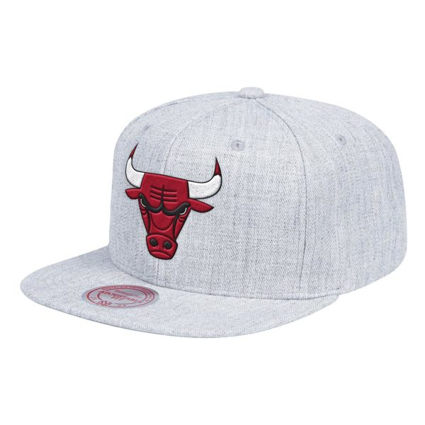 Gorro Mitchell And Ness Bulls NBA TH Snapback Gris