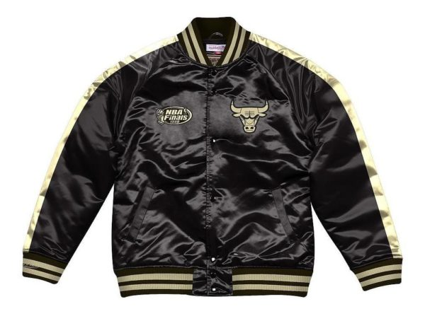 CHAQUETA HOMBRE MITCHELL AND NESS NBA CHICAGO BULLS NEGRO
