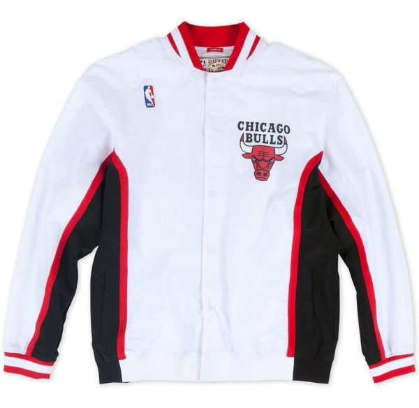 CHAQUETA HOMBRE MITCHELL AND NESS NBA CHICAGO BULLS AUTENTHIC BLANCO