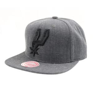 GORRO MITCHELL AND NESS NBA DARK HEATHER WOOL SPURS GRIS