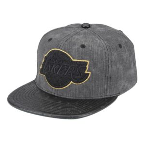GORRO MITCHELL & NESS BIG BOSS LAKERS GRIS