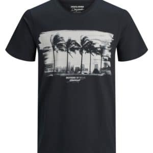 POLERA HOMBRE JACK AND JONES JORJARED NEGRO