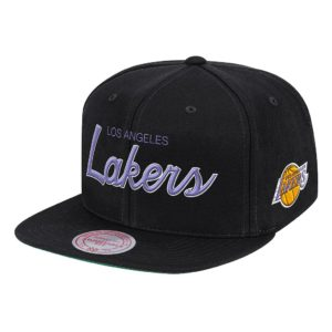 GORRO MITCHELL AND NESS LAKERS LOGO SCRIPT SNAPBACK NEGRO