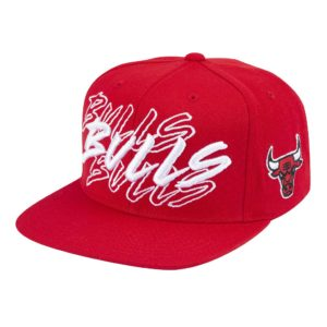 GORRO MITCHELL AND NESS NBA BULLS RAGIN TC SNAPBACK ROJO