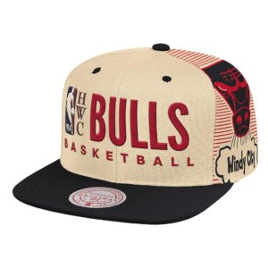 GORRO MITCHELL AND NESS NBA BULLS TEAM BIG FACE HWC BEIGE