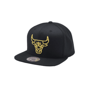GORRO MITCHELL AND NESS CHICAGO BULLS SNAPBACK BLACK/ GOLD