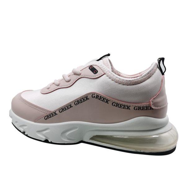 Zapatillas Urbanas de Mujer All Style Con Aire Greek Rosado-Blanco
