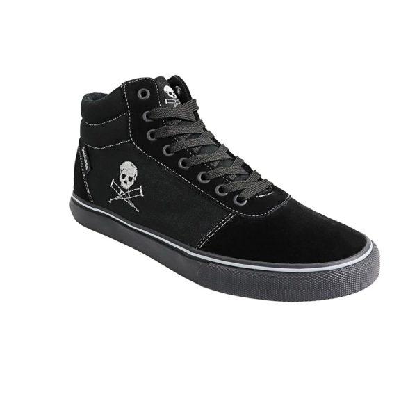 Zapatillas Hombre Jackass Crazy Action Caña Alta SPL Vulcanizadas Negro-Negro